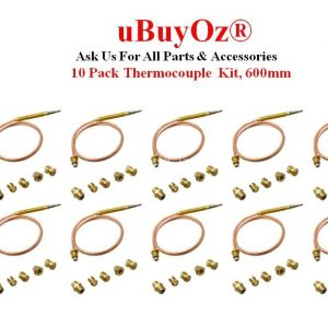 10 Pack Universal Thermocouple Kit 600mm CC40600Z-10