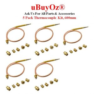 5 Pack Universal Thermocouple Kit 600mm CC40600Z-5