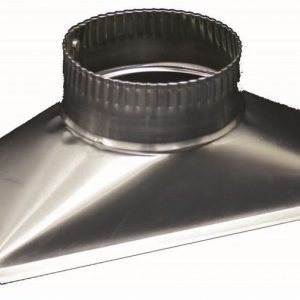 Deflecto Rectangular to Round Flue Adaptor, RHA5